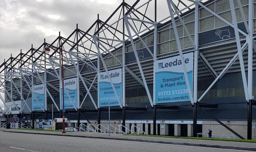 Leedale are official sponsors of derby County Football North Stand.